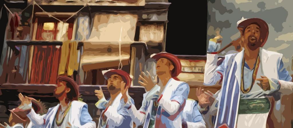 Certamen Carnaval: Comparsa de Juan Carlos Aragón 'La Guayabera'. 19 de Febrero