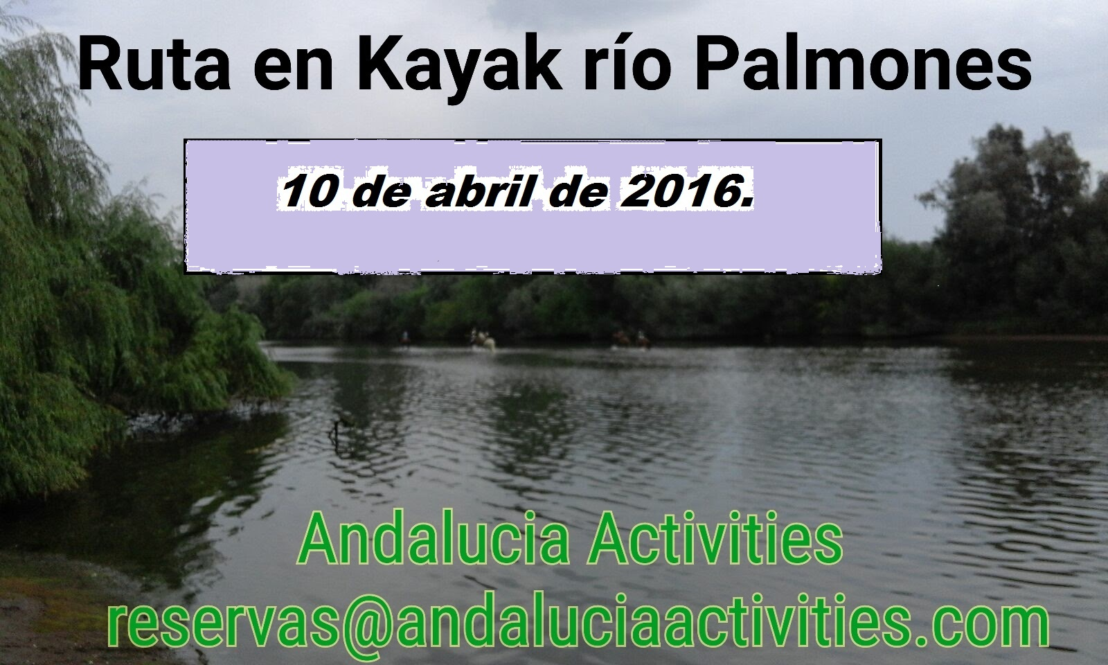 DOMINGO 10 DE ABRIL  – Ruta en Kayak