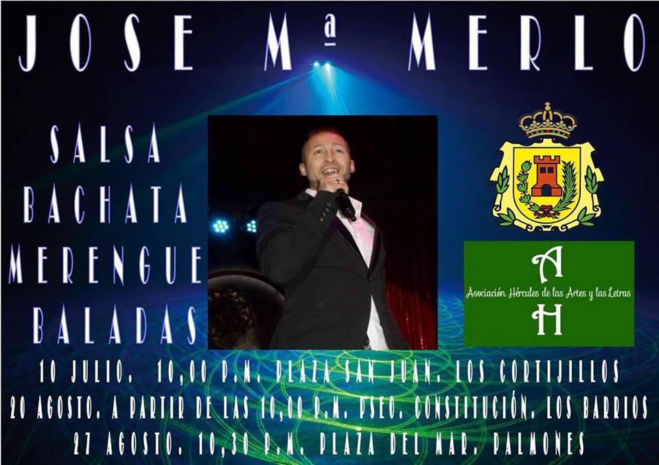 Concierto José María Merlo 20 y 27 Agosto