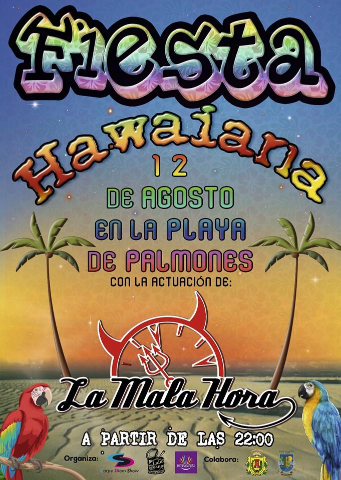 Fiesta Hawaina en la Playa de Palmones