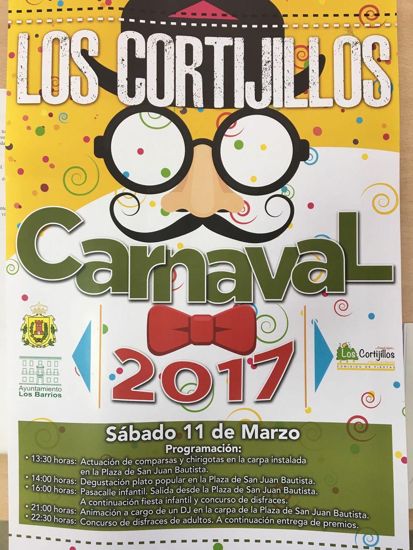 Carnaval 2017 en Los Cortijillos el 11 de marzo, sábado.