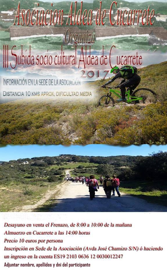 III Subida socio cultural Aldea de Cucarrete 2017 el próximo 23 de abril