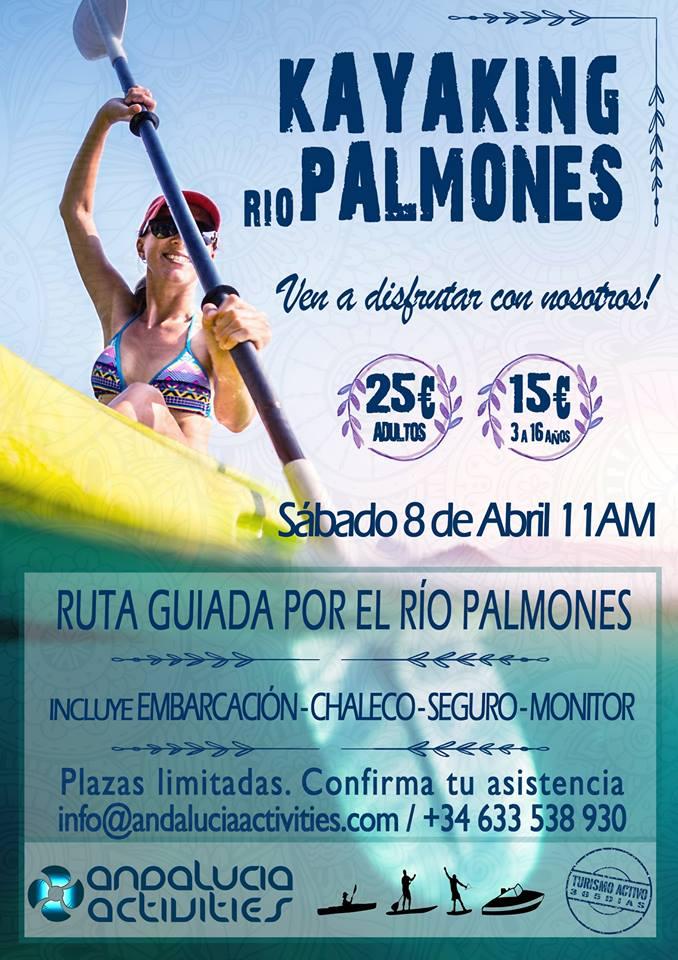 Primera ruta de kayaks por Río Palmones el sábado 8 de abril.