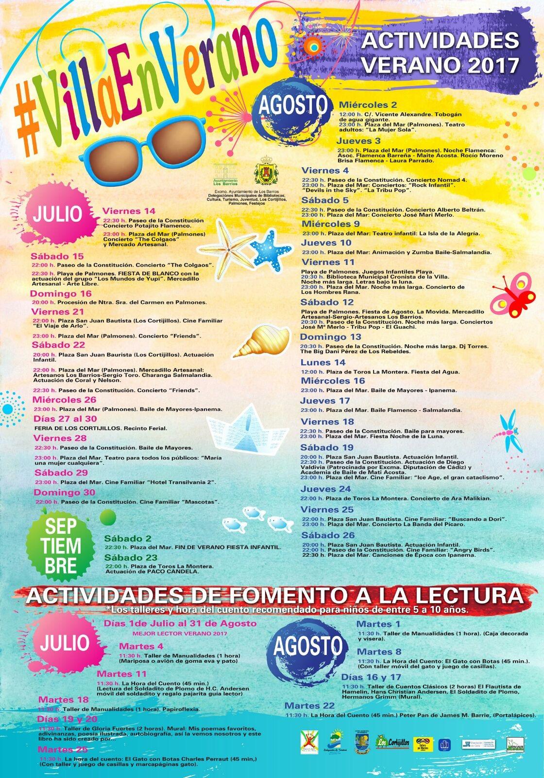 Más de 40 actividades para la programación veraniega #VillaEnVerano