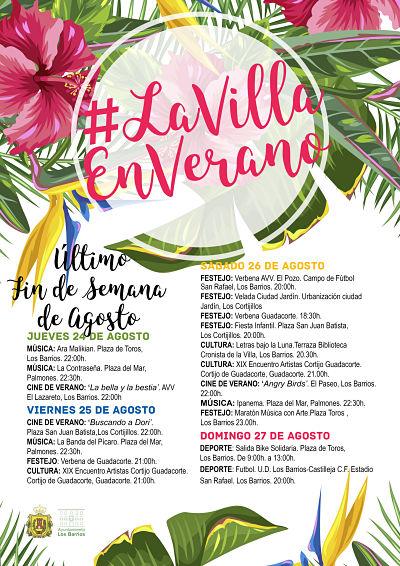 Agenda de último fin de semana de agosto #LaVillaEnVerano