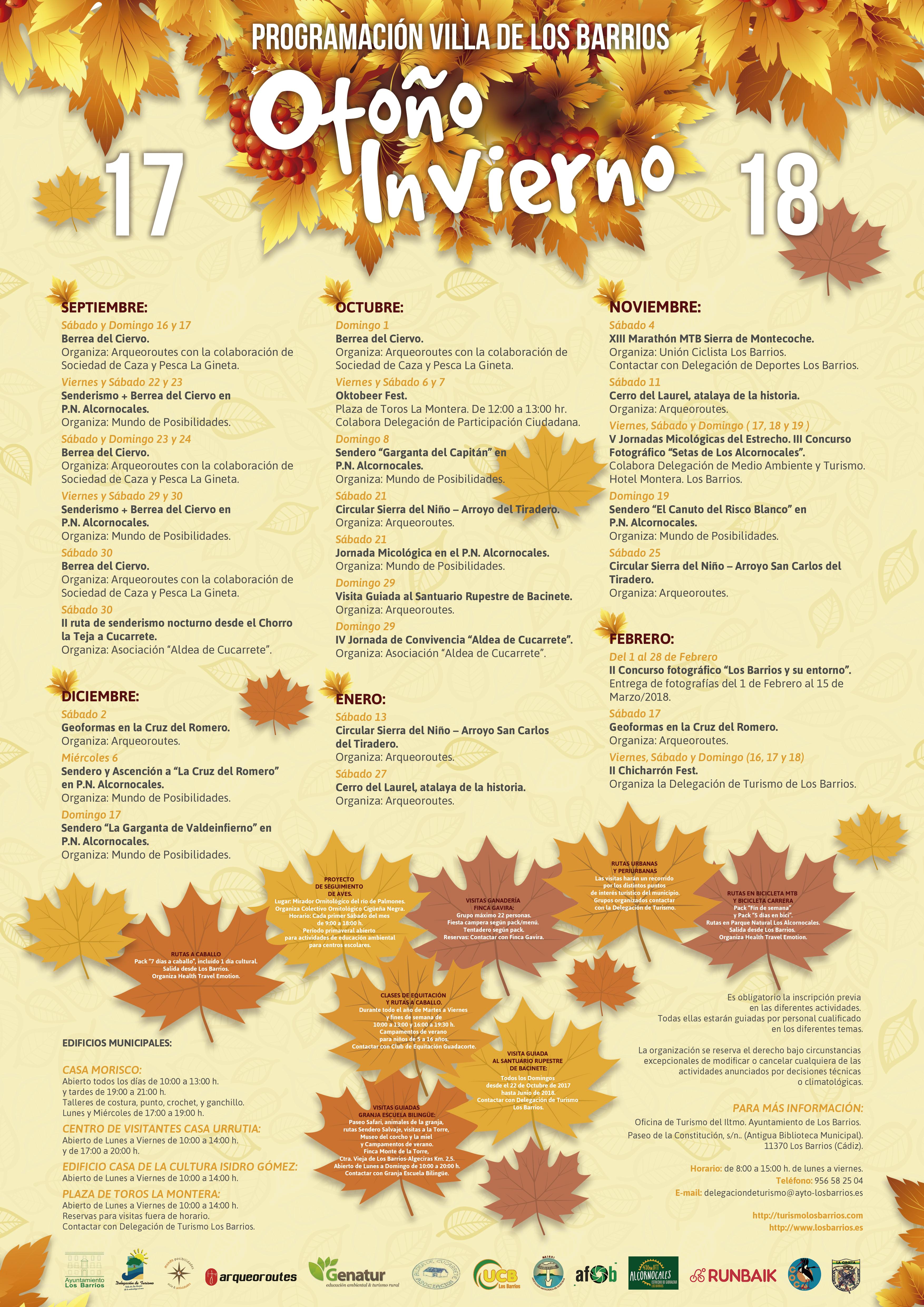 Programación otoño-invierno en la Villa de Los Barrios