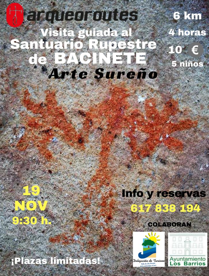 Arte sureño y visita a Bacinete el próximo 19 de noviembre con Arqueoroutes