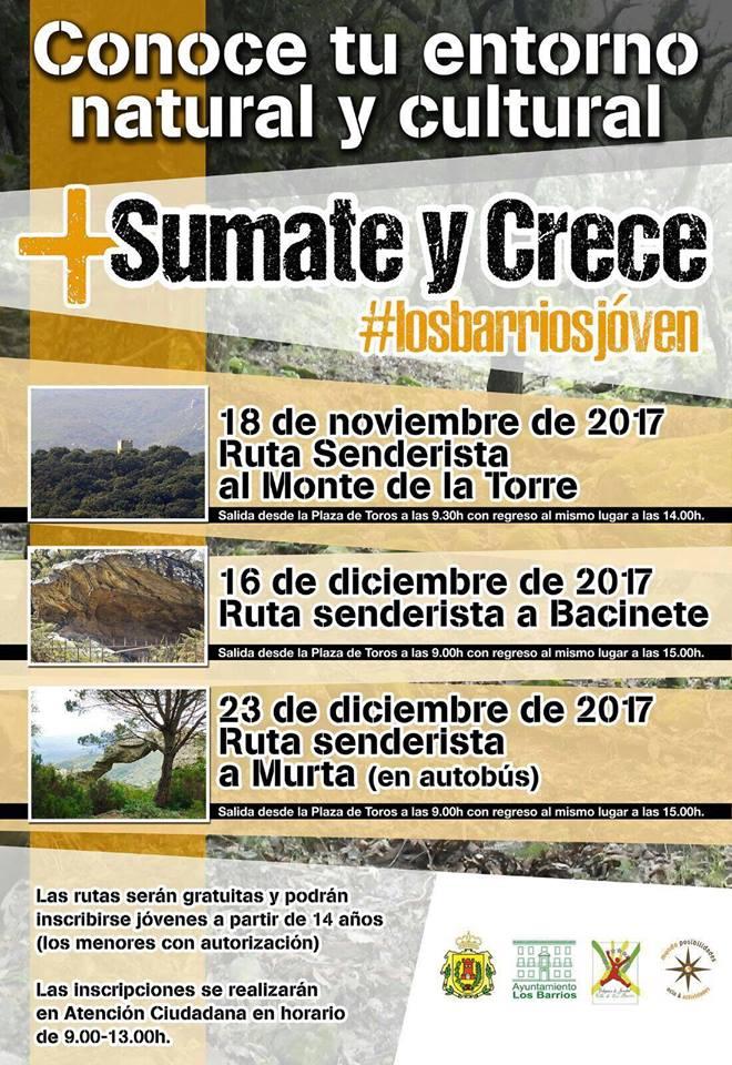 Ruta guiada por Bacinete para los jóvenes barreños el 16 de diciembre
