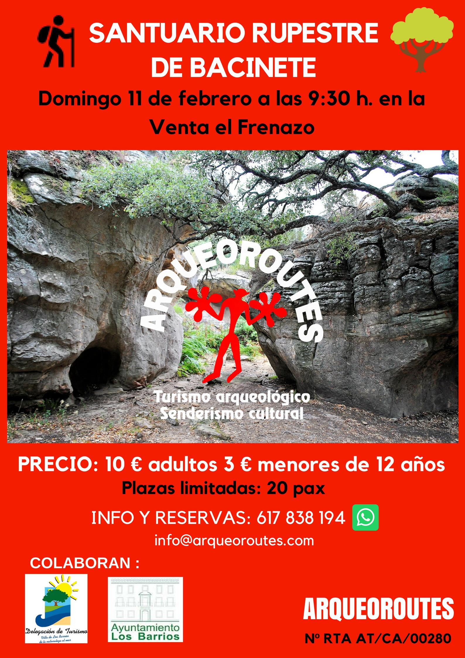 Santuario rupestre de Bacinete el próximo 11 de febrero