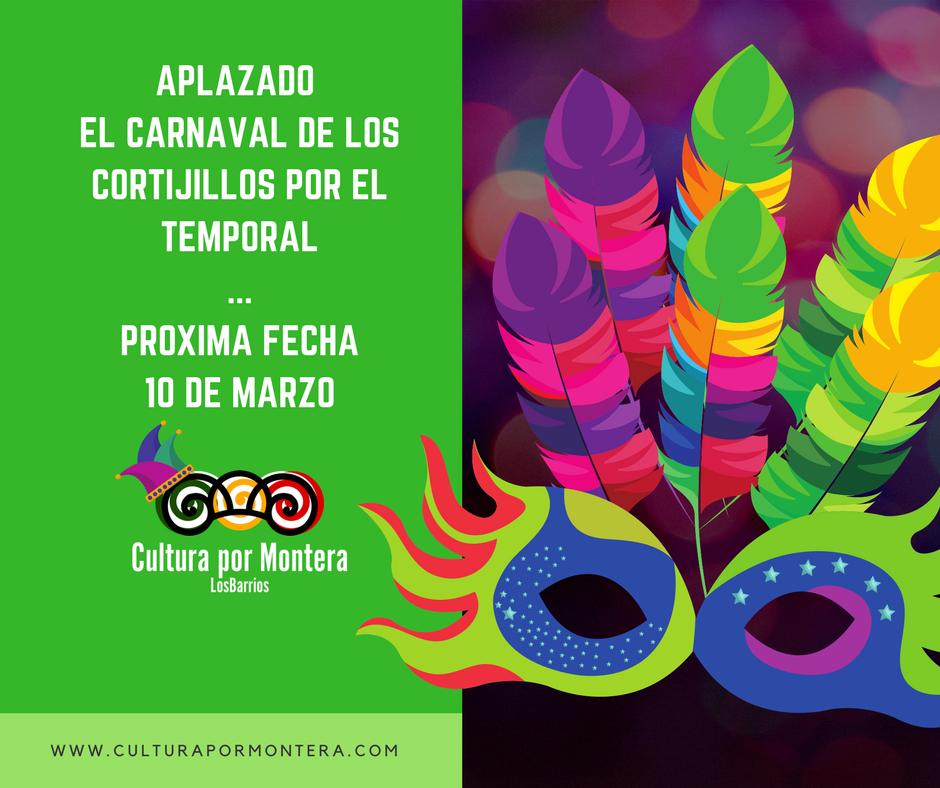 Nueva fecha para el carnaval de Los Cortijillos, el próximo 10 de marzo.
