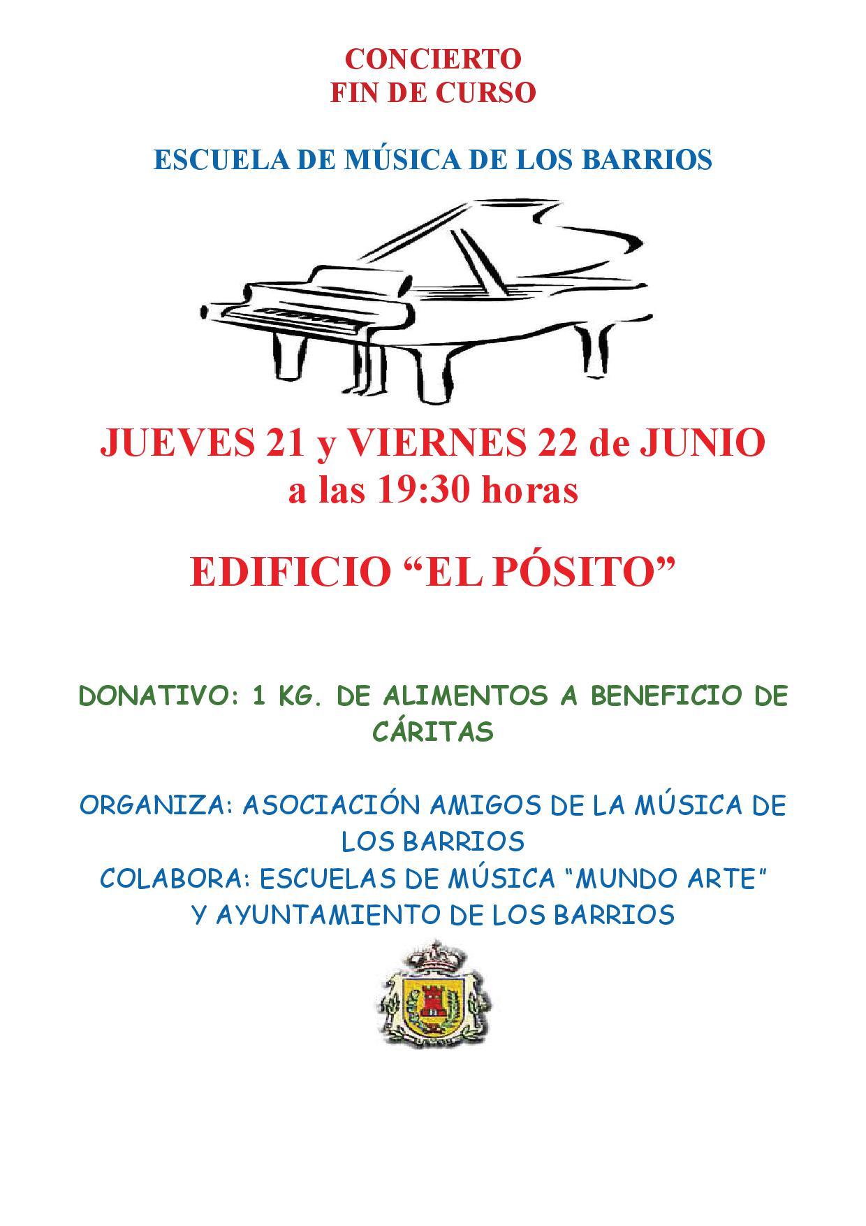 Concierto fin de curso – Escuela de música de Los Barrios