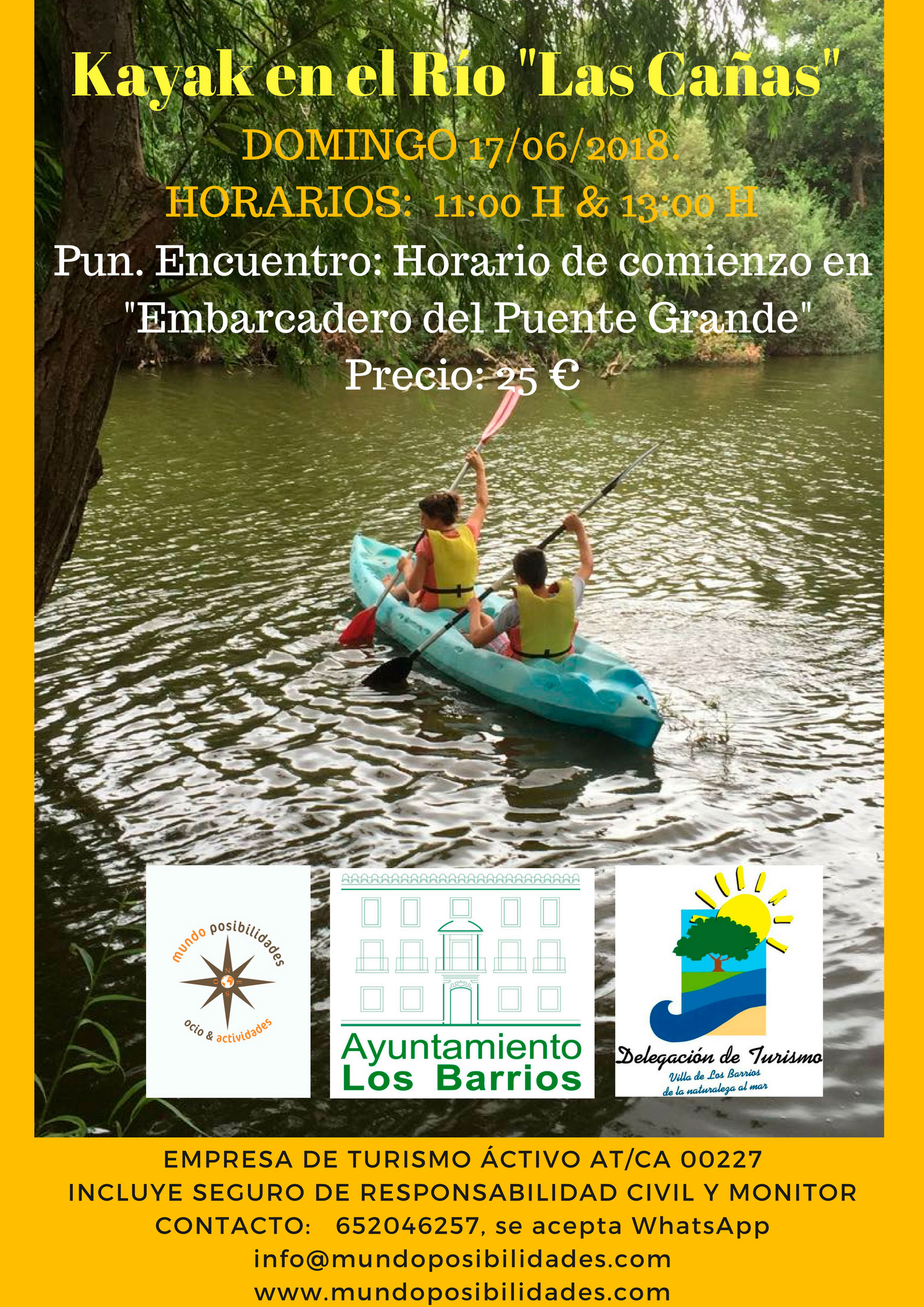 Kayak en el Río «Las Cañas»