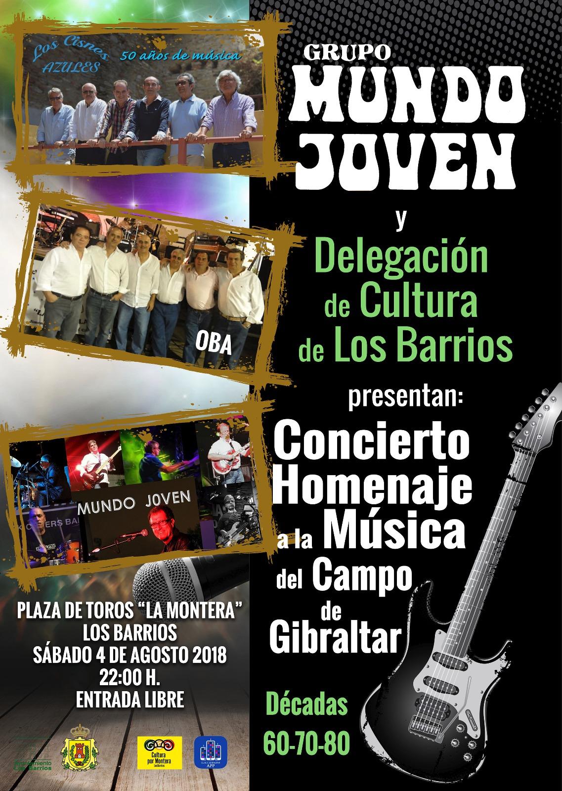 Concierto homenaje a la música del Campo de Gibraltar el 4 de agosto