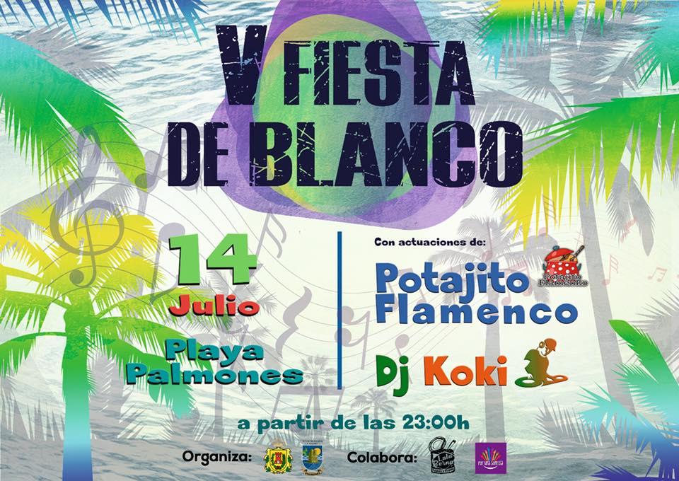 'V Fiesta en Blanco' en Palmones el 14 de julio.