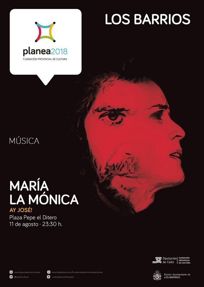 María La Mónica en concierto el 11 de agosto en Los Barrios