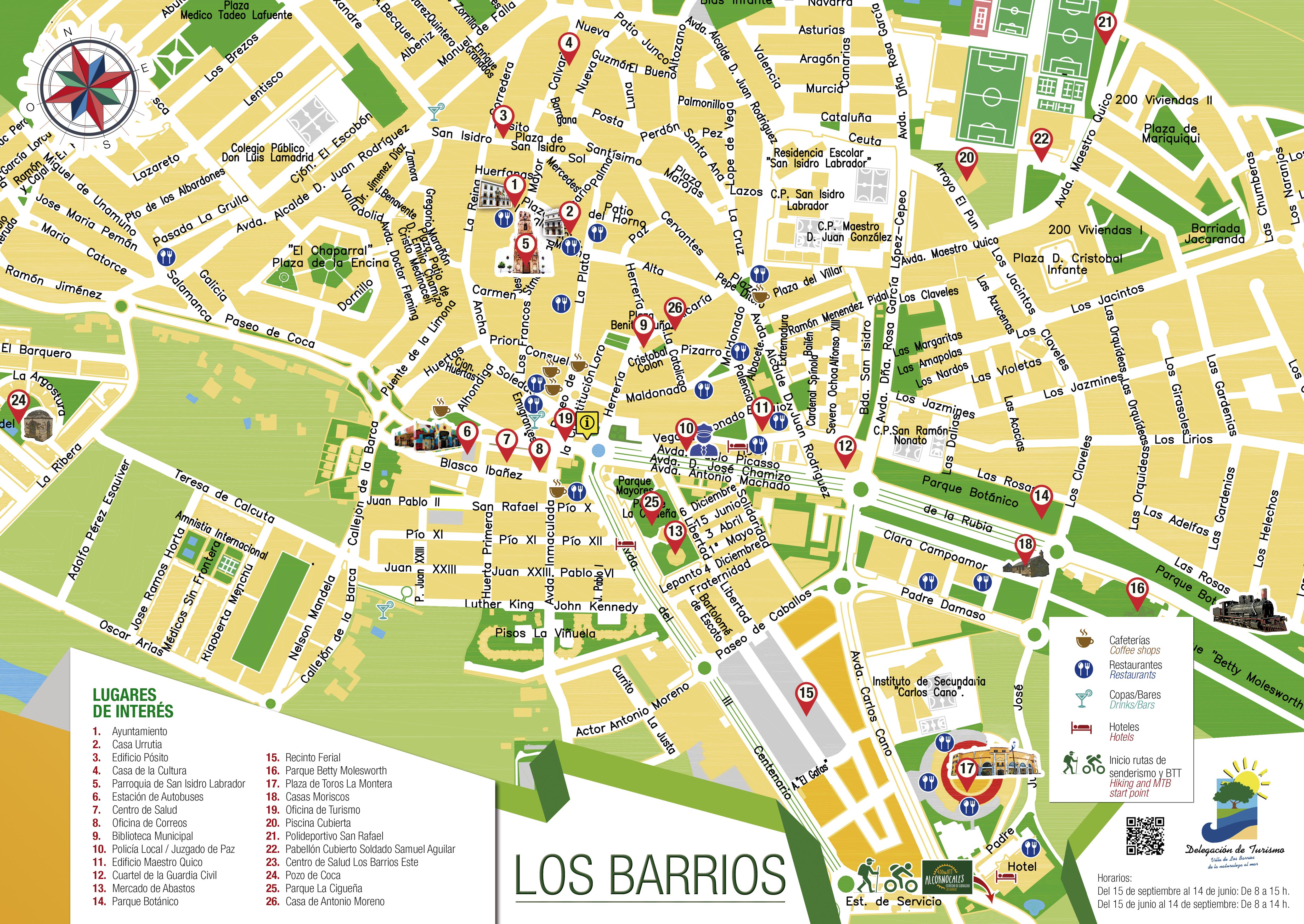Plano actualizado de Los Barrios