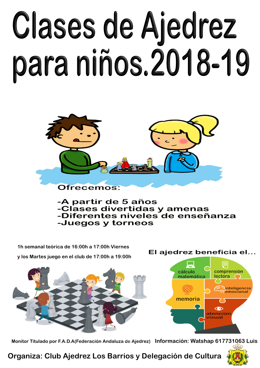 Clases de ajedrez para niños en Los Barrios