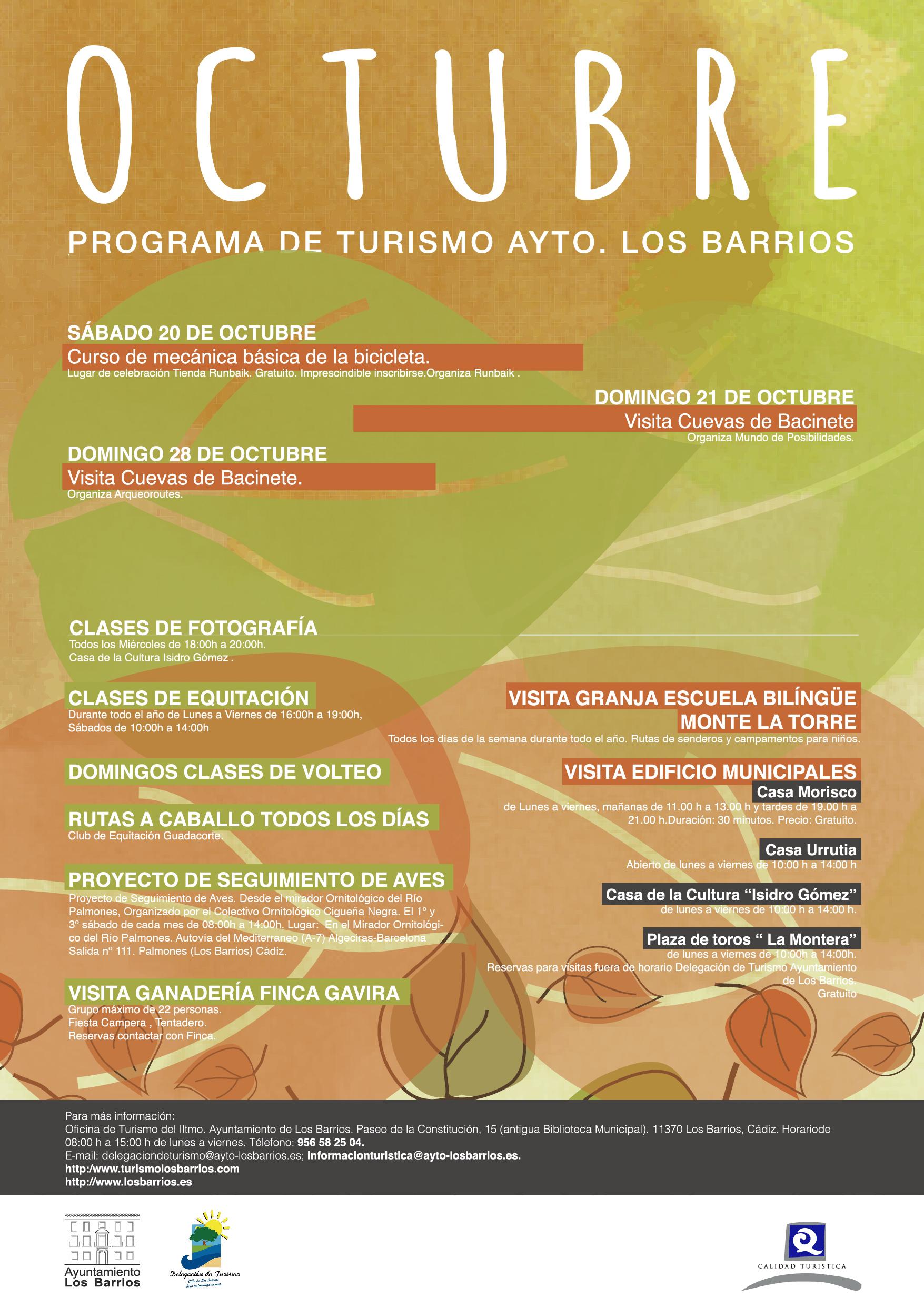 Programa Turismo Los Barrios Octubre 2018
