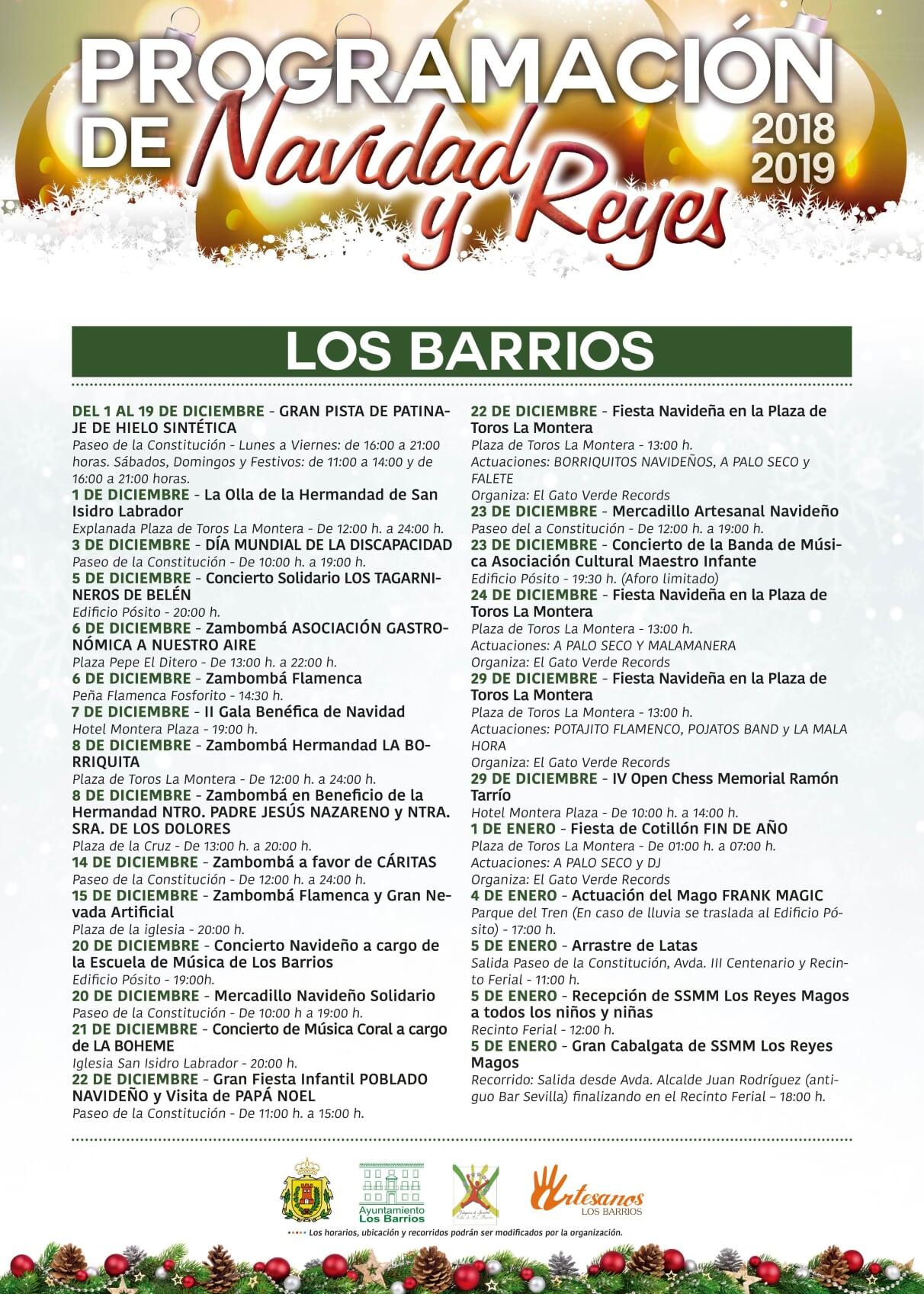 Programación navideña en Los Barrios 2018