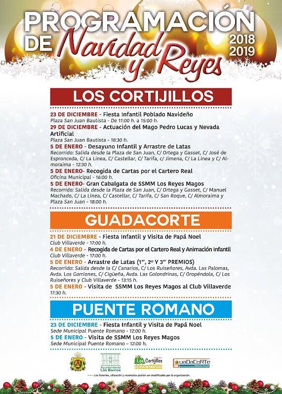 Programación navideña en los Cortijillos, Puente Romano y Guadacorte
