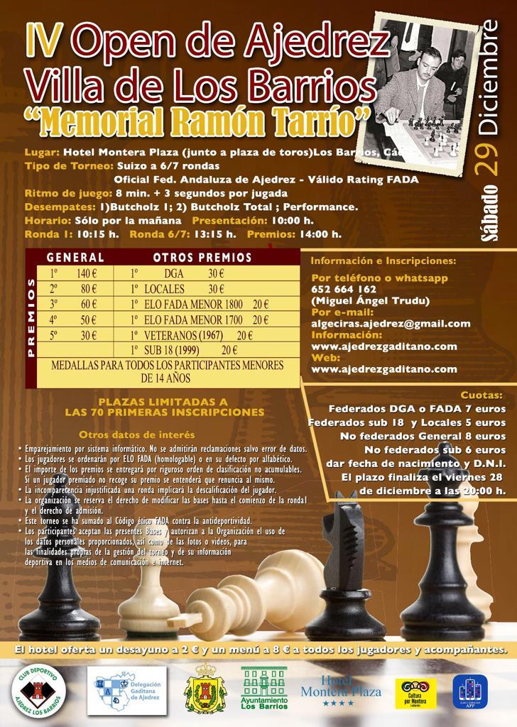 IV Open de ajedrez Villa de Los Barrios