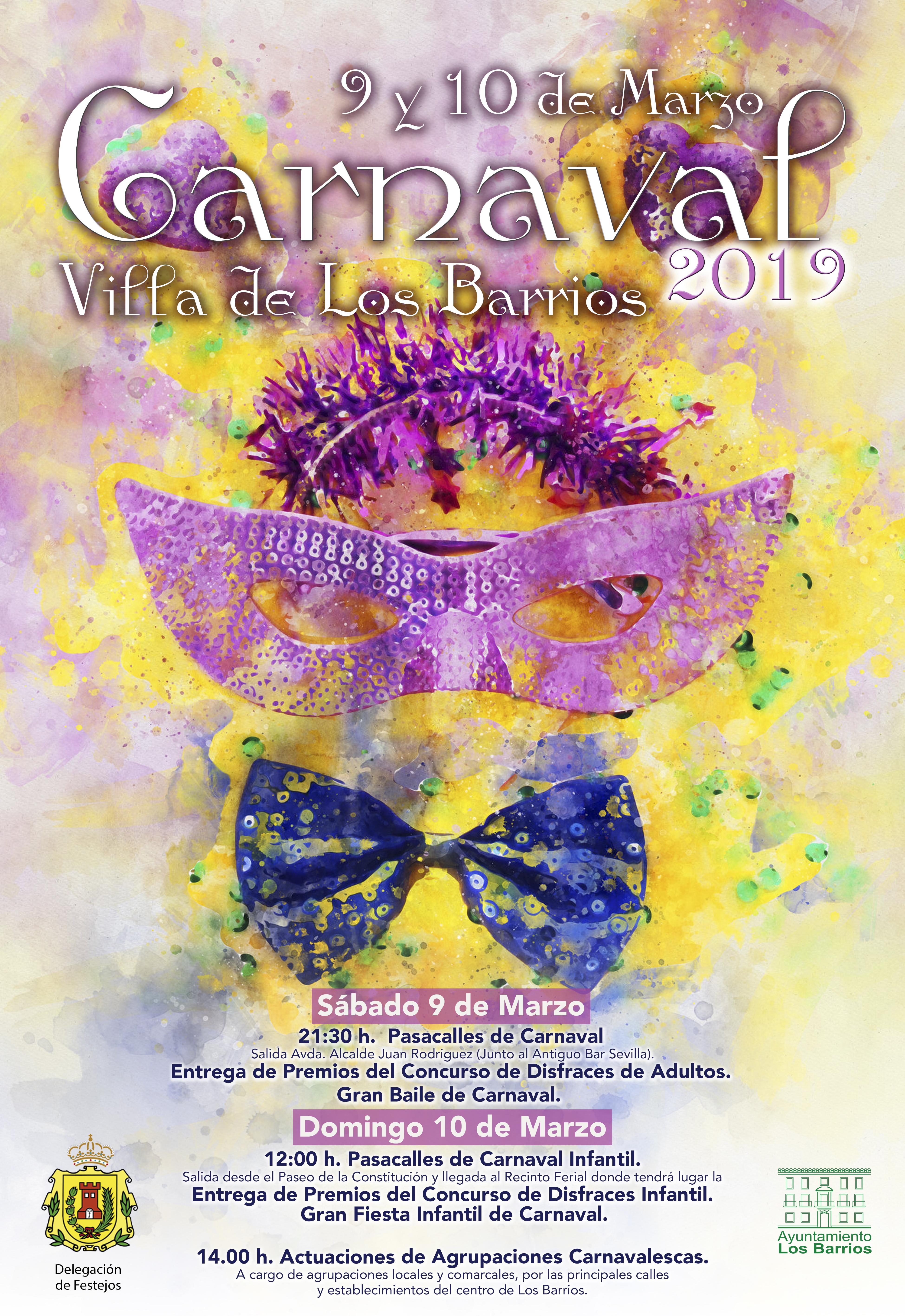 Carnaval en Los Barrios 9 y 10 de marzo.