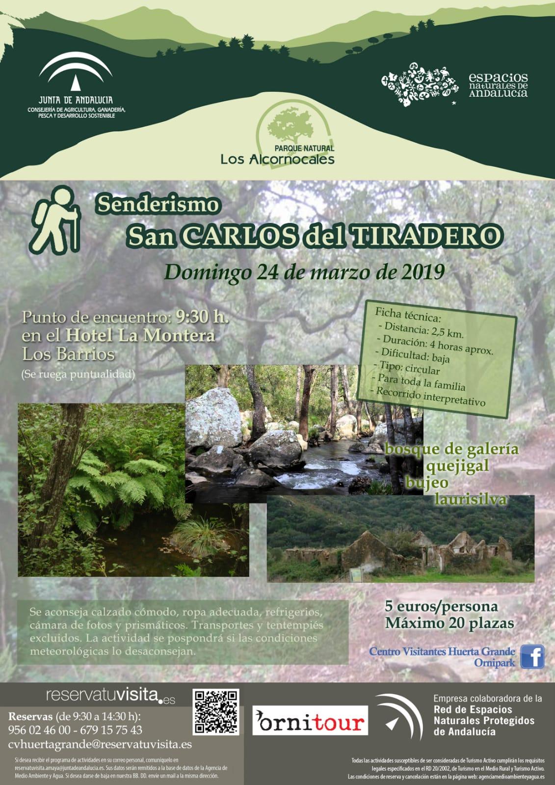 Domingo 24 de marzo, Sendero San Carlos del Tiradero.