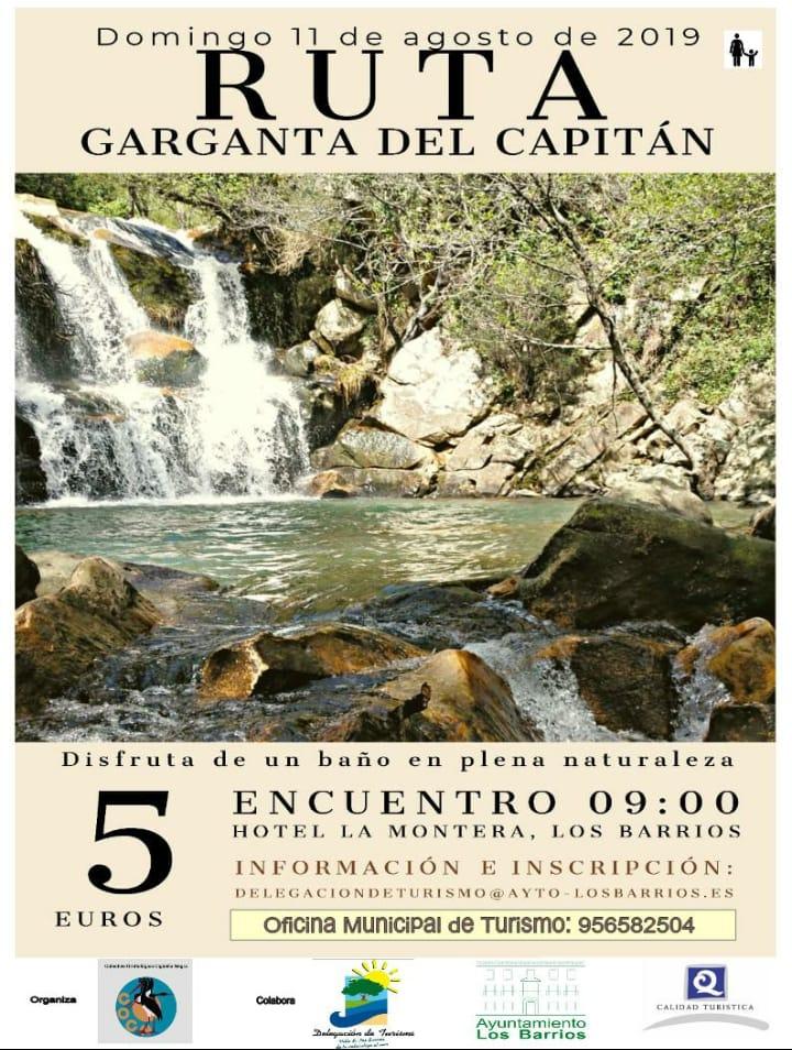 Ruta senderismo Garganta del Capitán 11 agosto