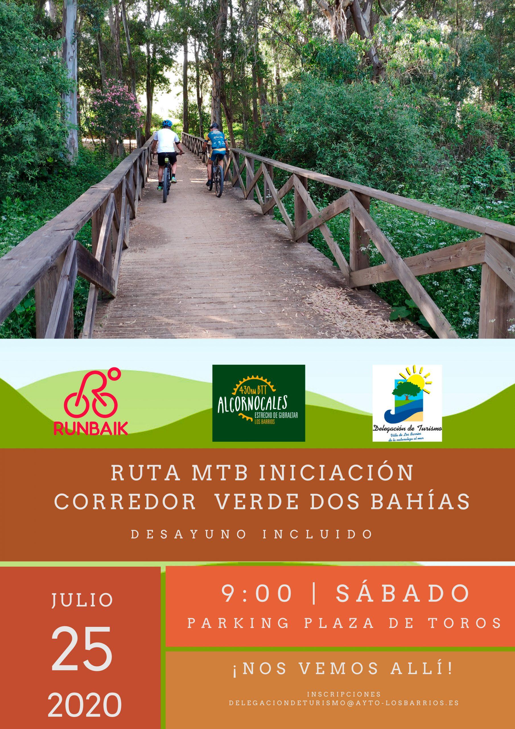 Ruta MTB iniciación Corredor verde dos Bahías – Sábado 25 de Julio