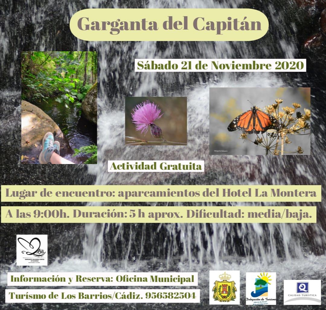 Ruta gratuíta Garganta del Capitán 21 noviembre